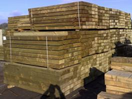 Green Softwood Sleeper (L)1200x(W)200x(H)100mm-0
