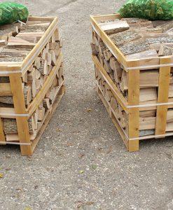 Kiln-Dried Ash Crate of Logs (0.8M Crates x 2)-0