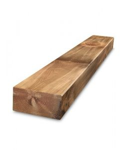 Planed & Bevelled (PAR) Brown Treated Railway Sleepers 2.4m x 200mm x 100mm-0